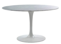 Round Marble Tulip Style Dining Table – 48″